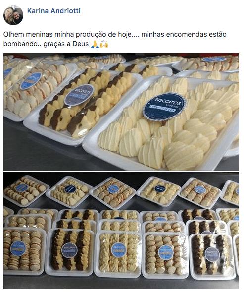depoimento aluna curso de biscoito caseiro